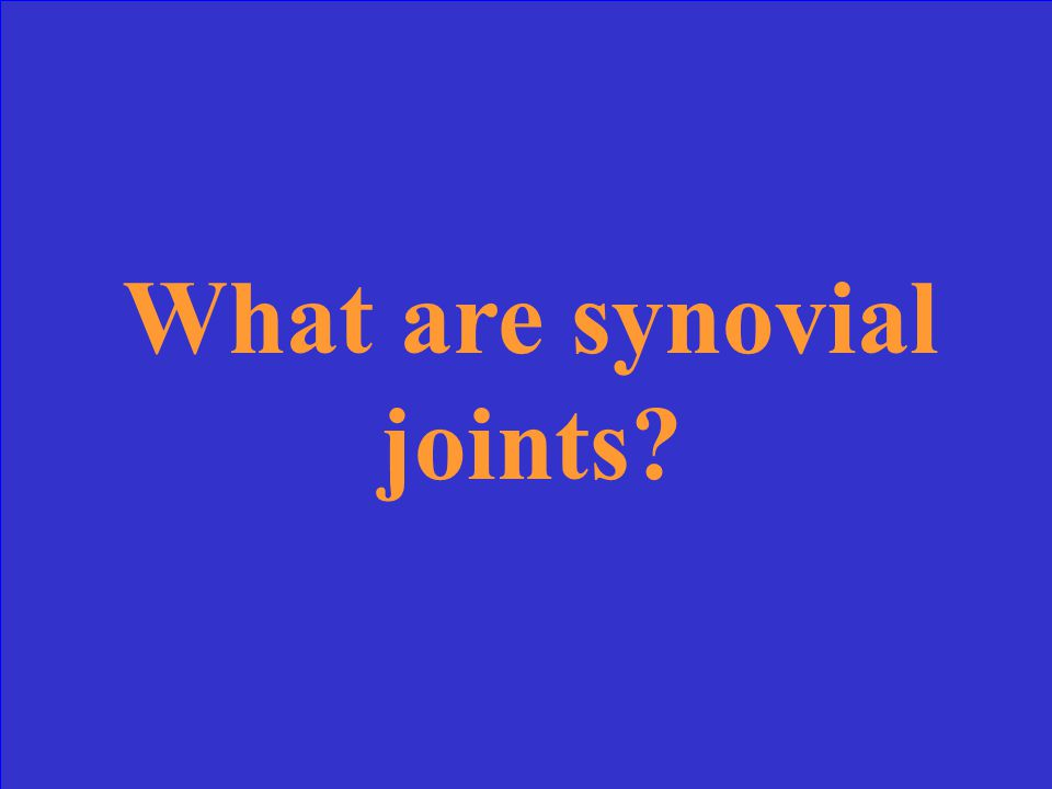 These types of joints are lubricated by fluid and have articular surfaces.