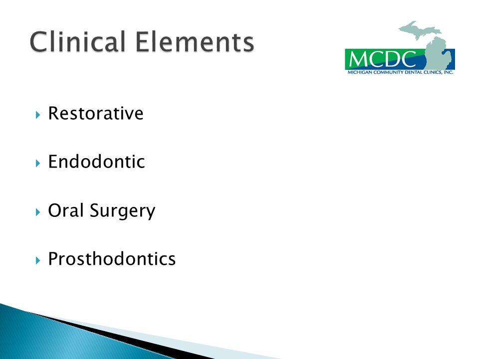  Restorative  Endodontic  Oral Surgery  Prosthodontics