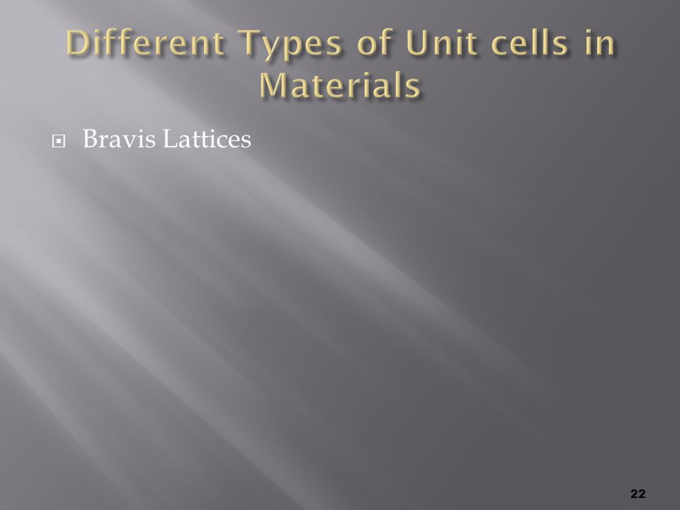  Bravis Lattices 22