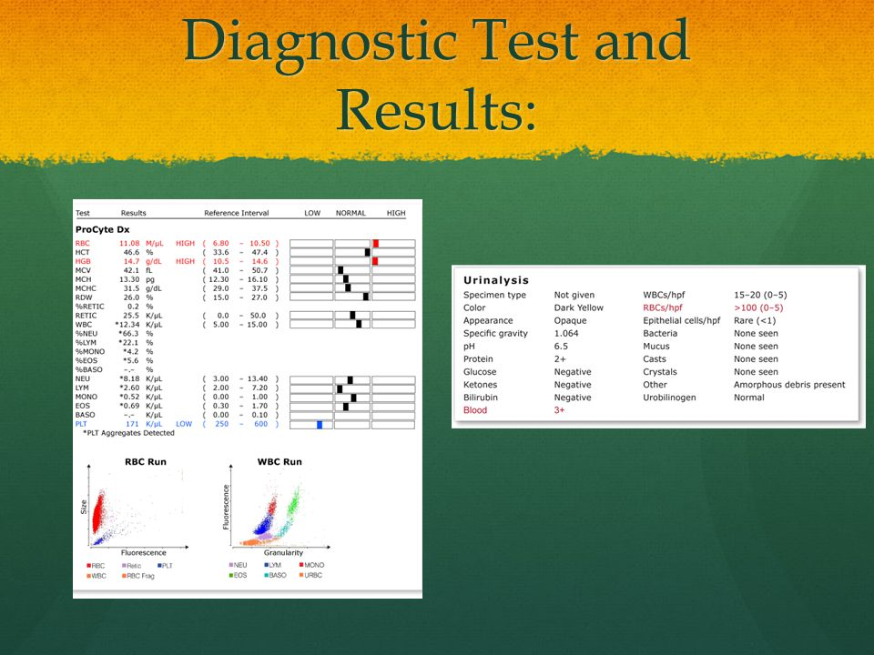Diagnostic Test and Results: