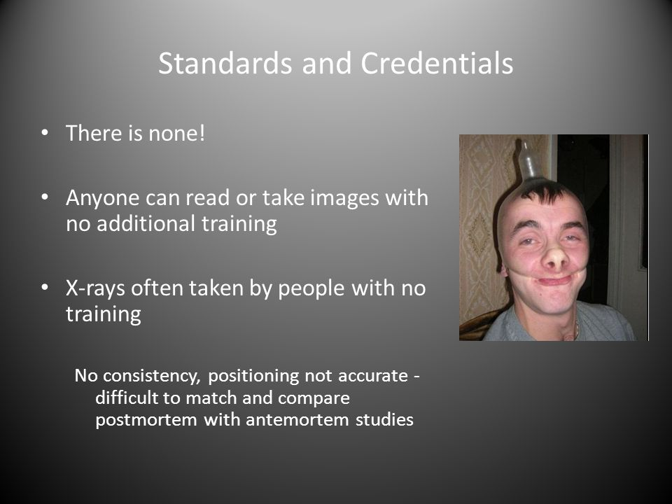 Standards and Credentials There is none.