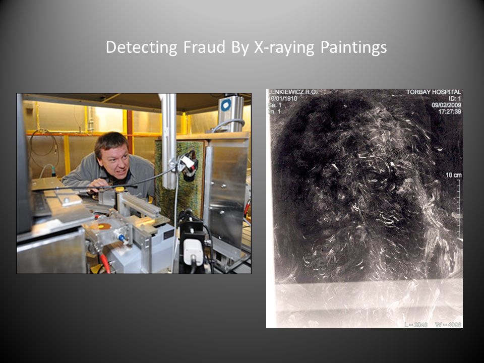 Detecting Fraud By X-raying Paintings