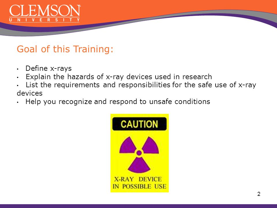 Research X-ray Safety Fundamentals Office of Research Safety 114 Long Hall