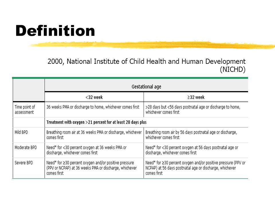 Definition 2000, National Institute of Child Health and Human Development (NICHD)