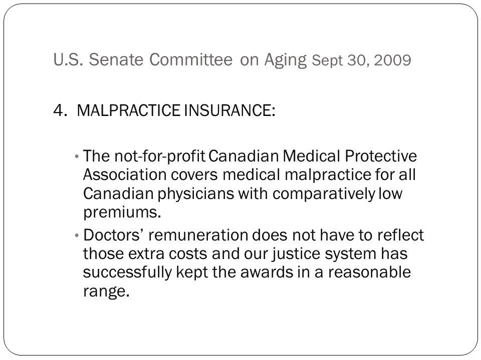 U.S. Senate Committee on Aging Sept 30, 2009 4.