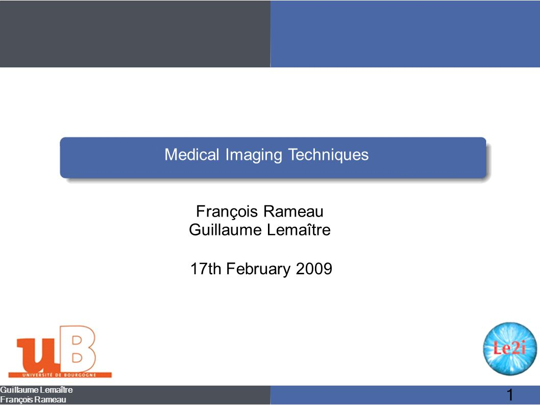 42 Medical ultrasonography – Advantages/Disadvantages Guillaume Lemaître François Rameau Introduction Radiography Computed Tomography Magnetic Resonance Imaging Positron Emission Tomography Medical ultrasonography Conclusion Functionning Field of use Advantages/Disadvantages Advantages: Disadvantages:: Noninvasive Clean & safe In-expensive Noisy Gas filled and bony structures cannot be imaged because they absorb ultrasound waves.