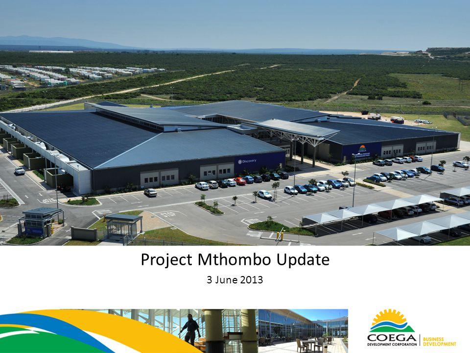 Project Mthombo Update 3 June 2013
