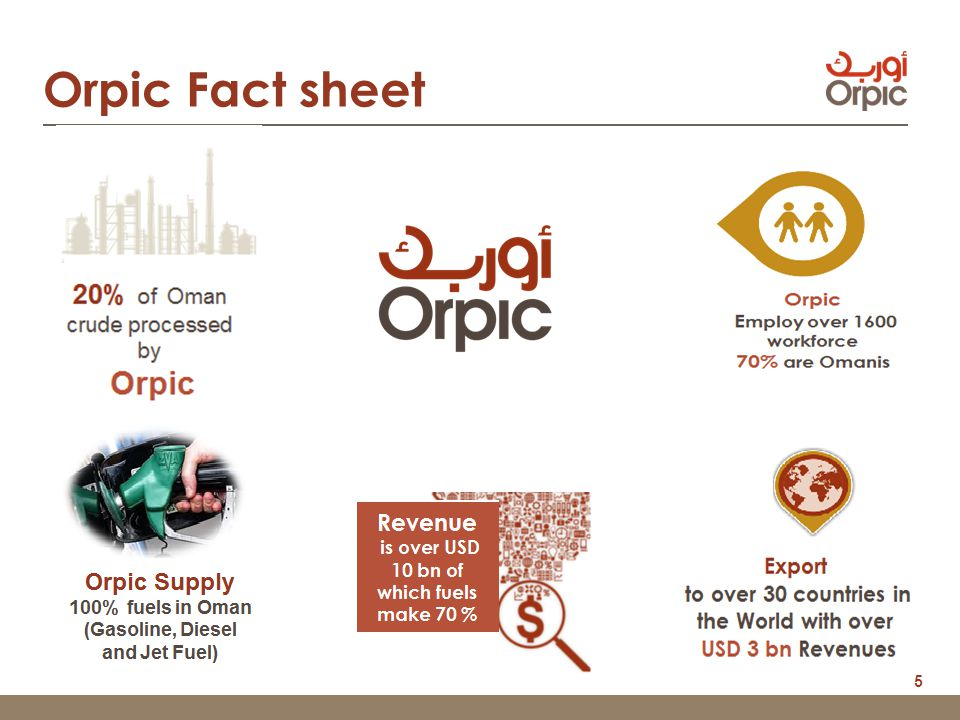 5 Orpic Fact sheet