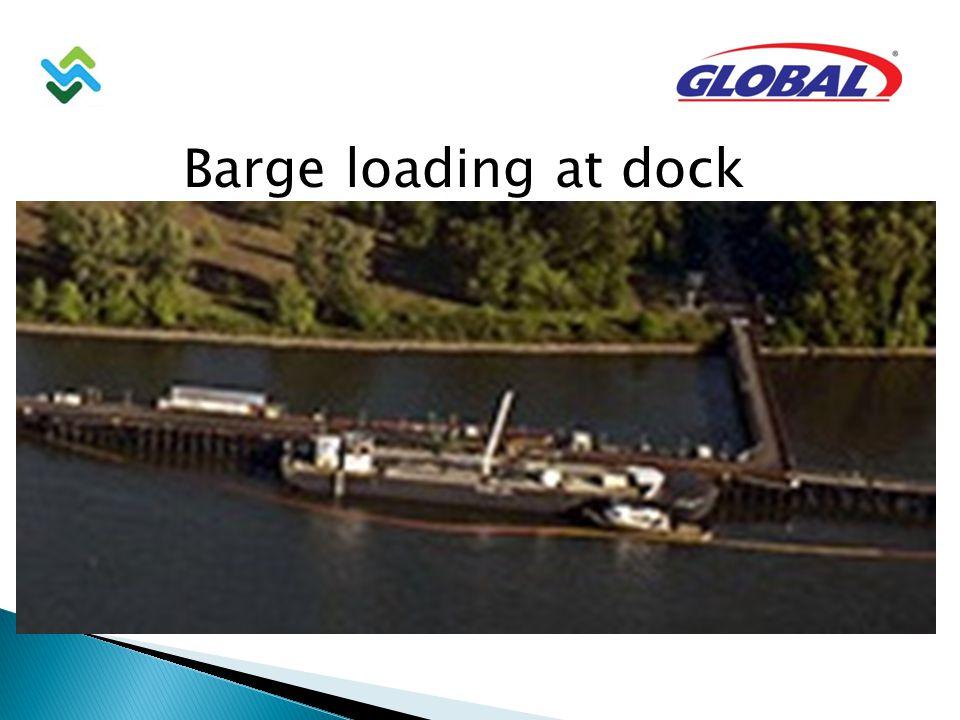 Barge loading at dock