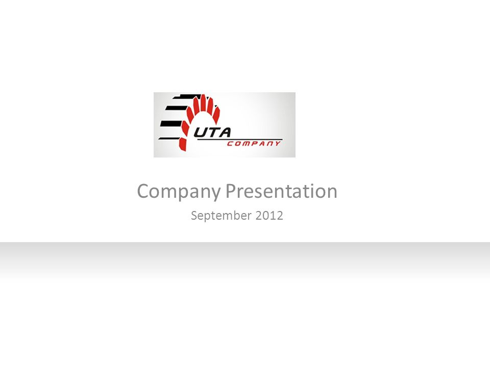 Company Presentation September 2012