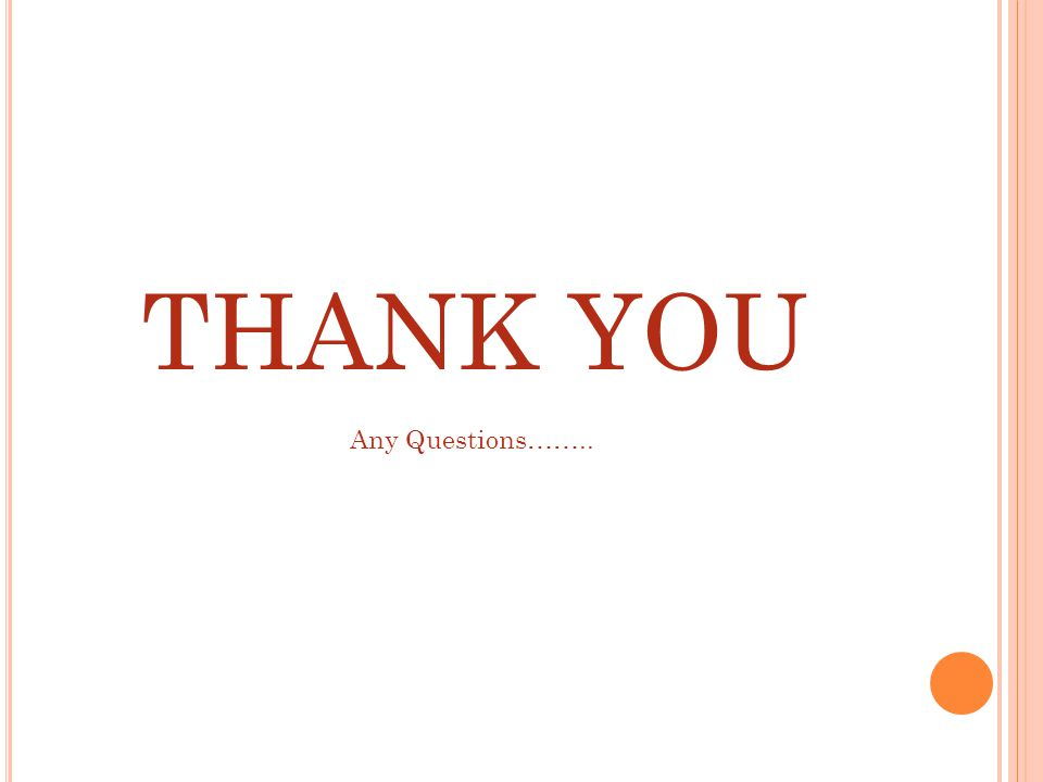 THANK YOU Any Questions……..