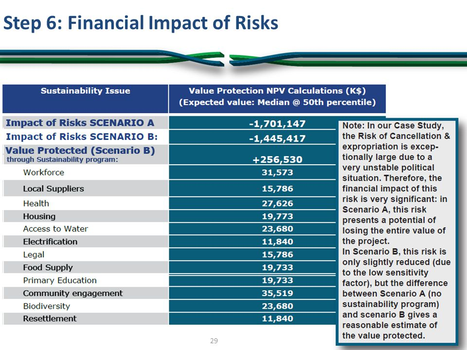 Step 6: Financial Impact of Risks 29