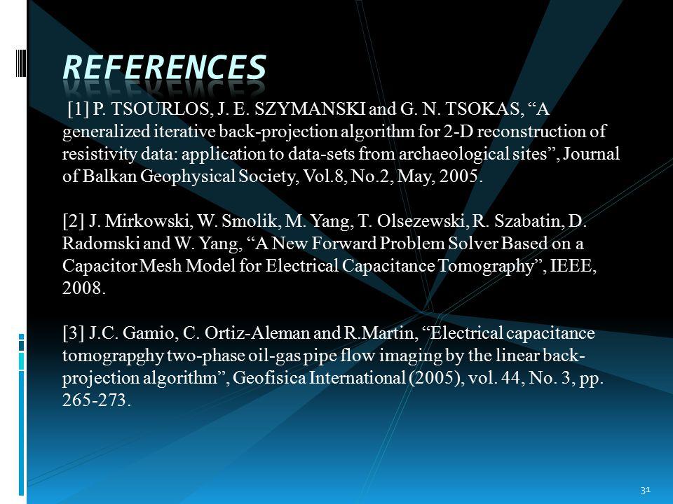 [1] P. TSOURLOS, J. E. SZYMANSKI and G. N.