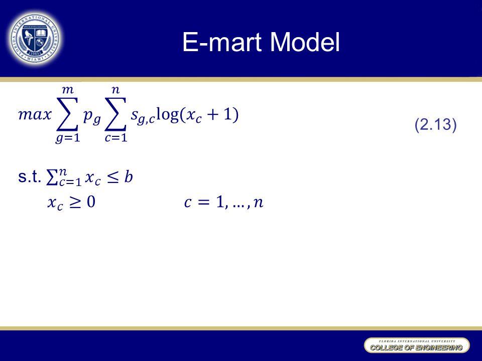 E-mart Model (2.13)