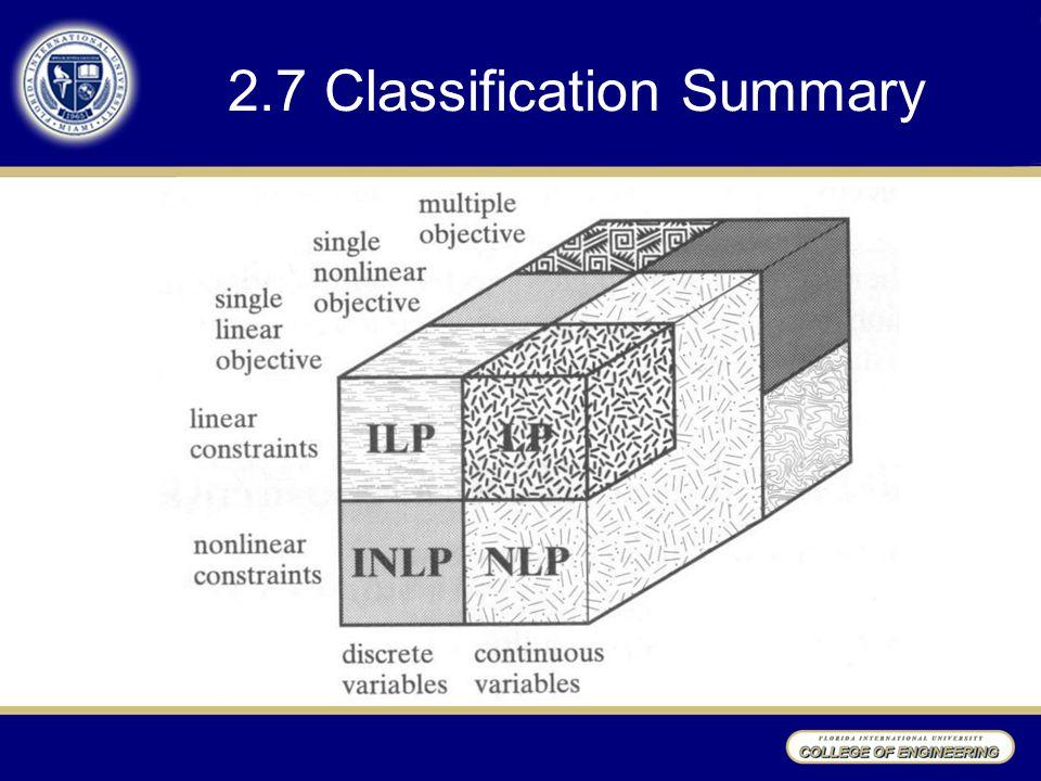 2.7 Classification Summary