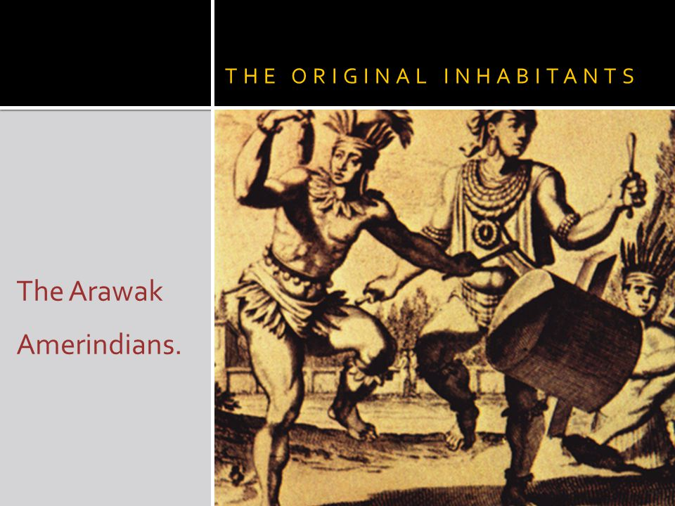 THE ORIGINAL INHABITANTS The Arawak Amerindians.