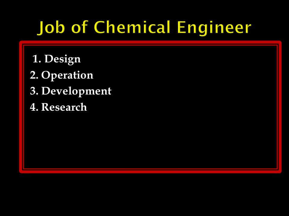 Chemical Engineering is the branch of Engineering that deals with the application of physical science (e.g., chemistry and physics ), and life science