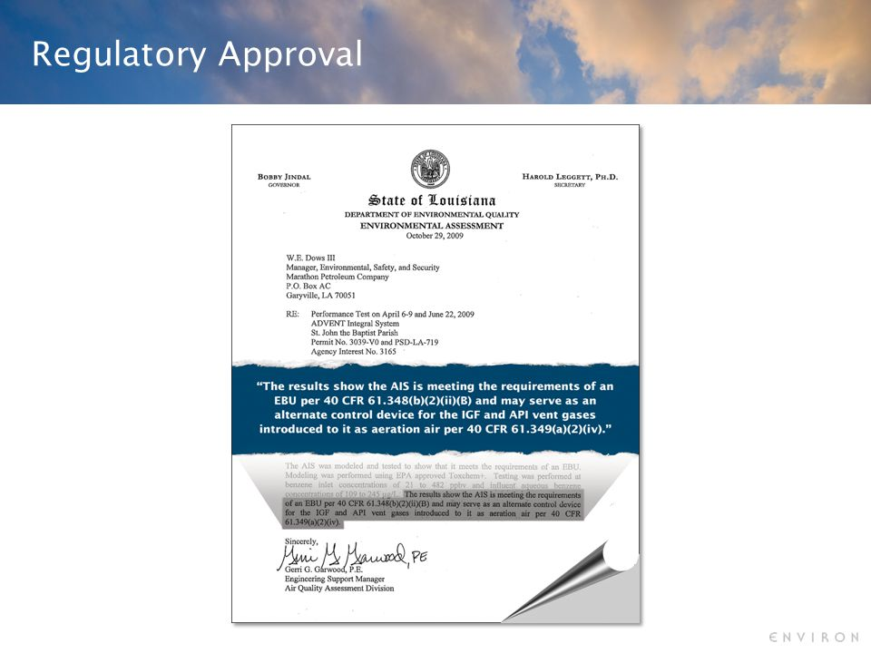 Regulatory Approval