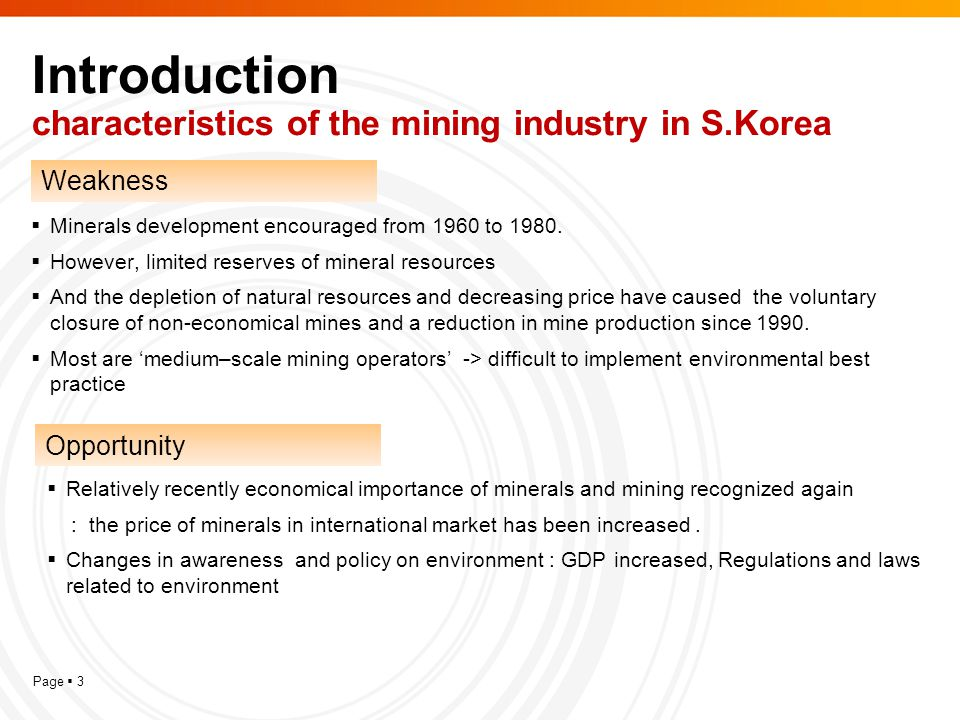 Page  14 Conclusion  The mechanism for environmentally sustainable development in mining and mineral sector in South Korea is government-oriented.