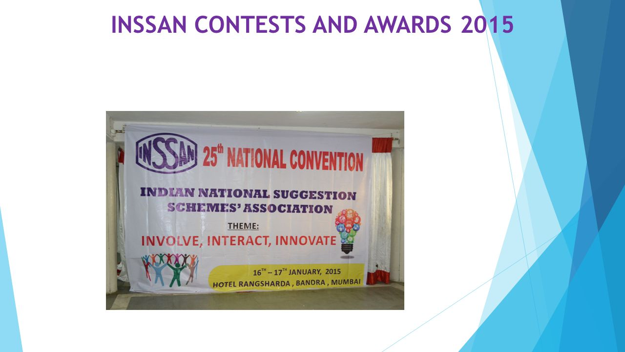 INSSAN CONTESTS AND AWARDS 2015