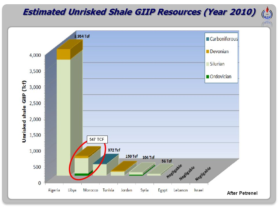 After Petrenel 547 TCF Estimated Unrisked Shale GIIP Resources (Year 2010)