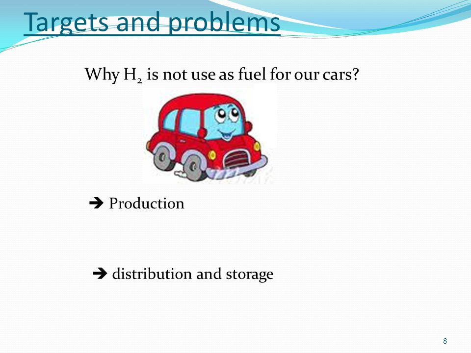 Why H 2 is not use as fuel for our cars.
