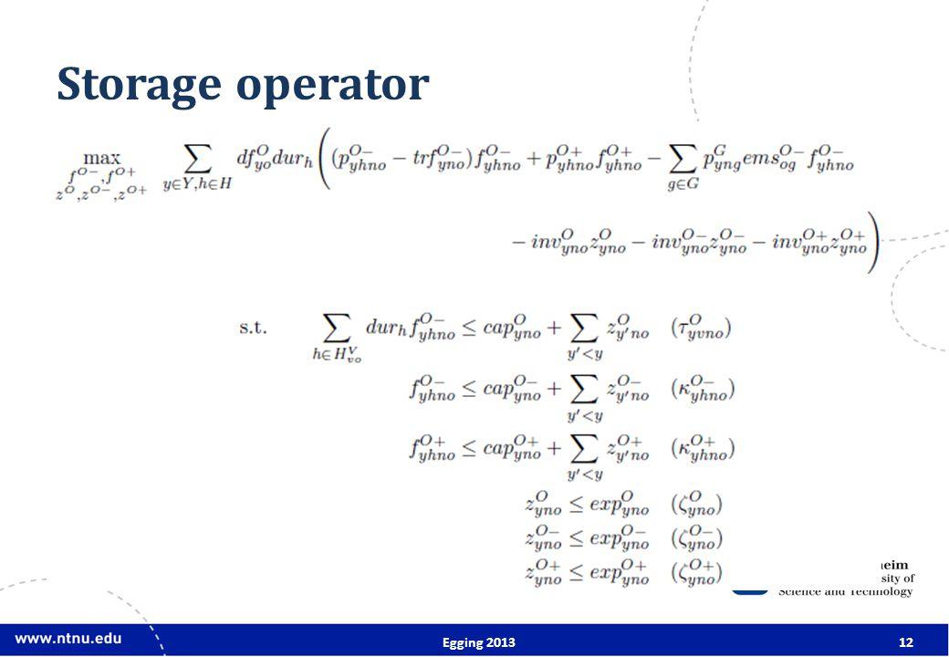 Storage operator Egging 201312