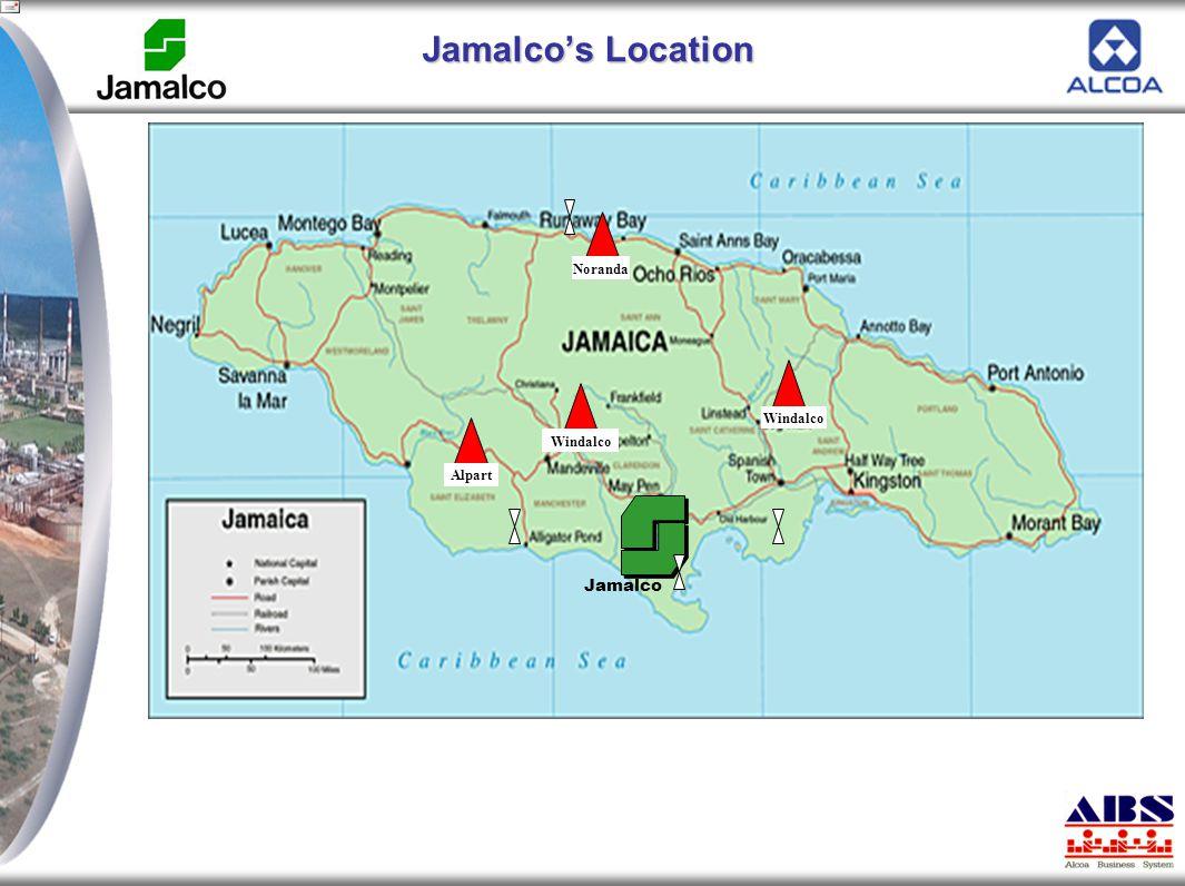 Jamalco's Location Jamalco Alpart Windalco Noranda