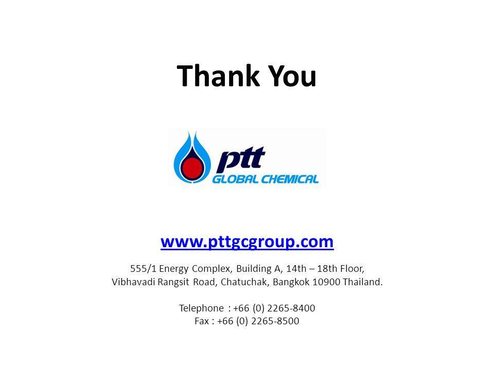 www.pttgcgroup.com 555/1 Energy Complex, Building A, 14th – 18th Floor, Vibhavadi Rangsit Road, Chatuchak, Bangkok 10900 Thailand.