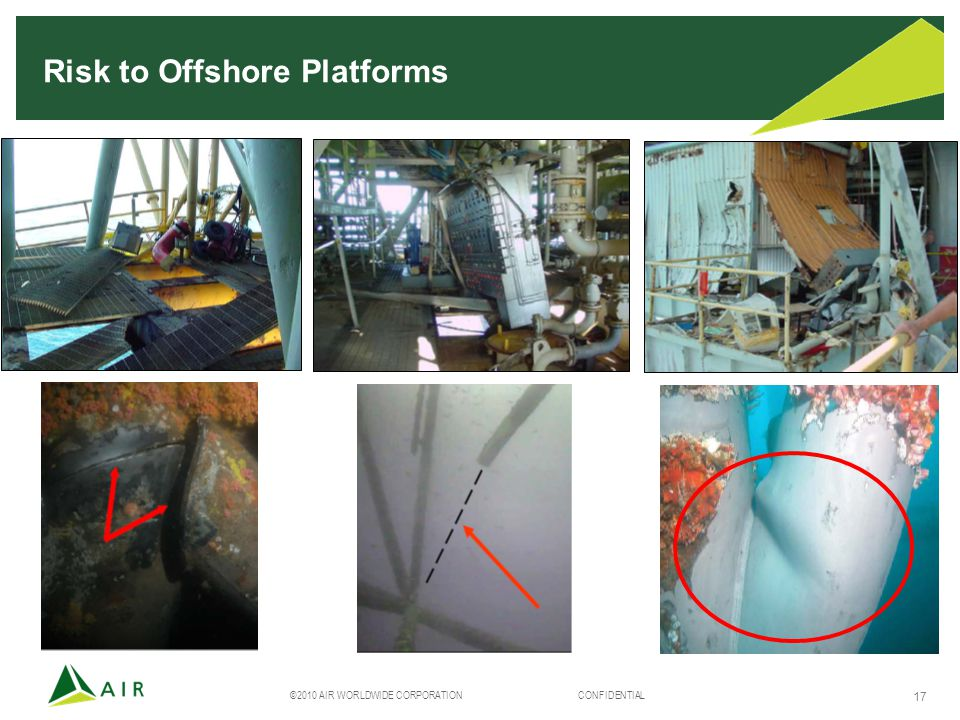 ©2010 AIR WORLDWIDE CORPORATION CONFIDENTIAL 17 Risk to Offshore Platforms
