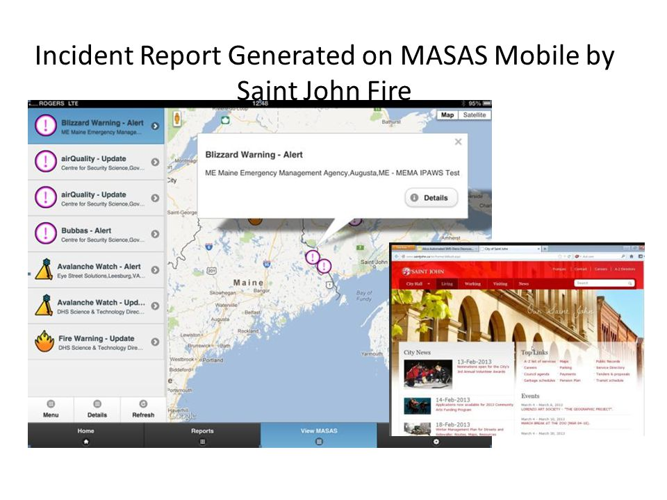 Incident Report Generated on MASAS Mobile by Saint John Fire