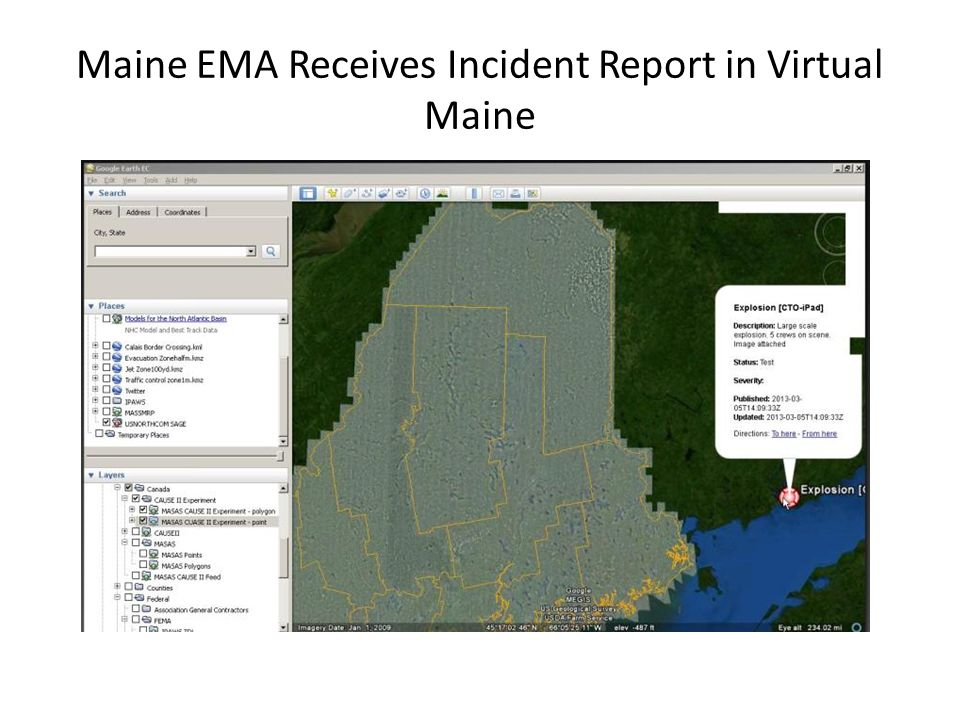 Maine EMA Receives Incident Report in Virtual Maine
