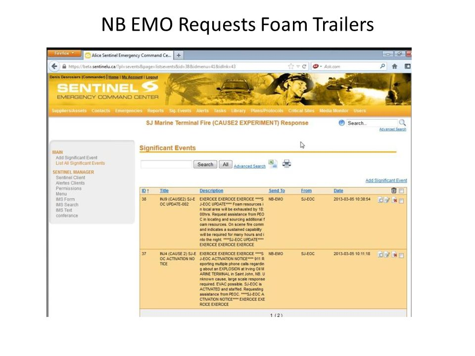 NB EMO Requests Foam Trailers