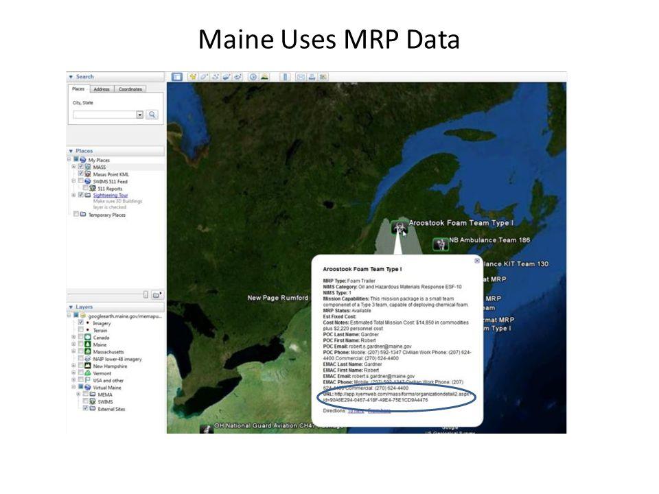 Maine Uses MRP Data