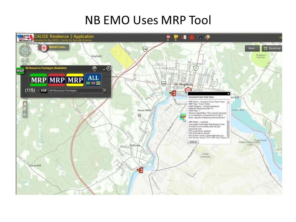 NB EMO Uses MRP Tool