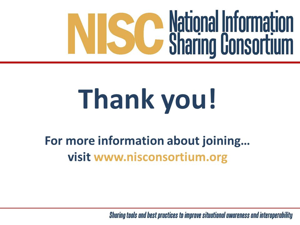 Thank you! For more information about joining… visit www.nisconsortium.org 69