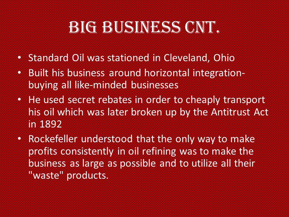 Big Business Cnt.