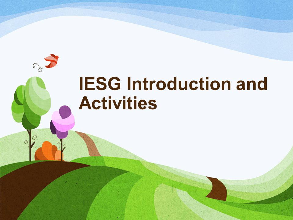 IESG Introduction and Activities
