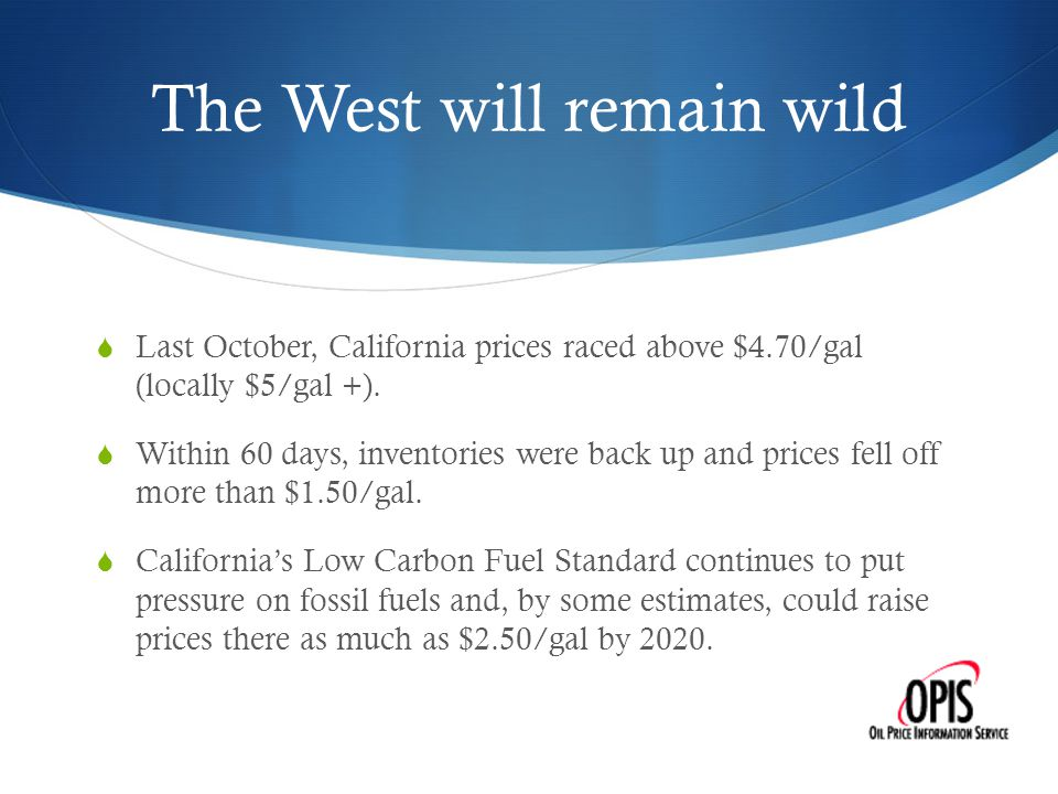 Crudely speaking, we are a diverse nation  Western Canadian Select (WCS) crudes sold several times last year at a $40/bbl discount to WTI - the standard blend for delivery into the NYMEX at Cushing, Okla.