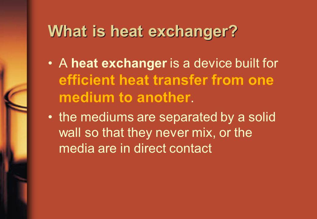 What is heat exchanger