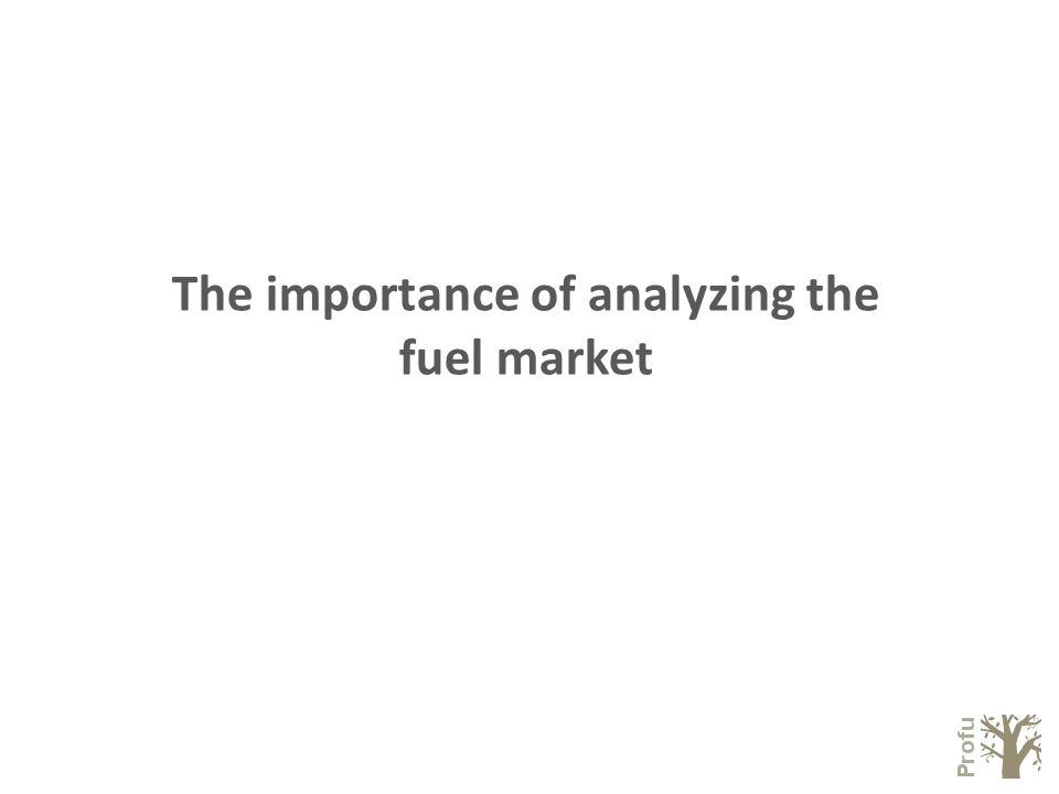 The importance of analyzing the fuel market
