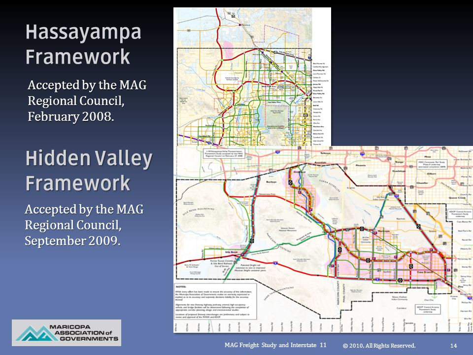 Hassayampa Framework Accepted by the MAG Regional Council, February 2008.