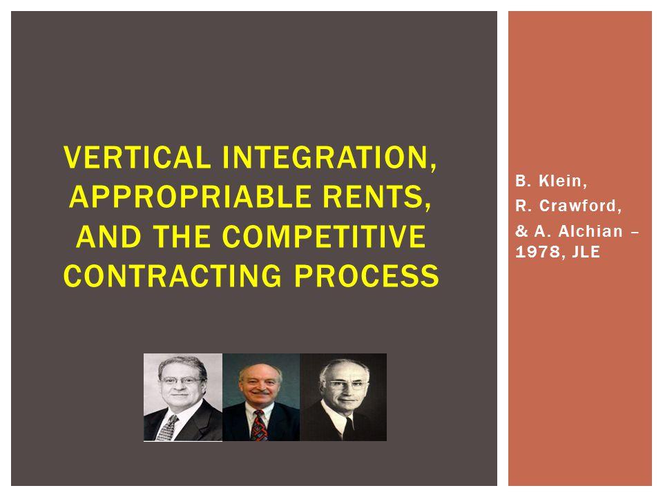 B. Klein, R. Crawford, & A.