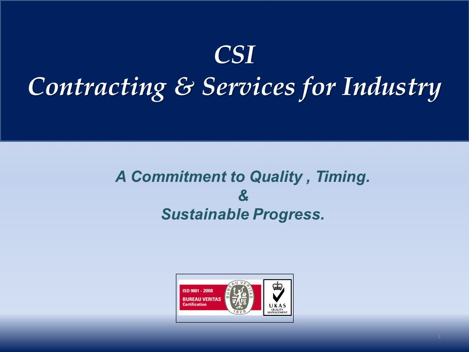 JOTUN Recommendation Various Projects 172 Professional References CSI CSI Contracting & Services for Industry Contracting & Services for Industry