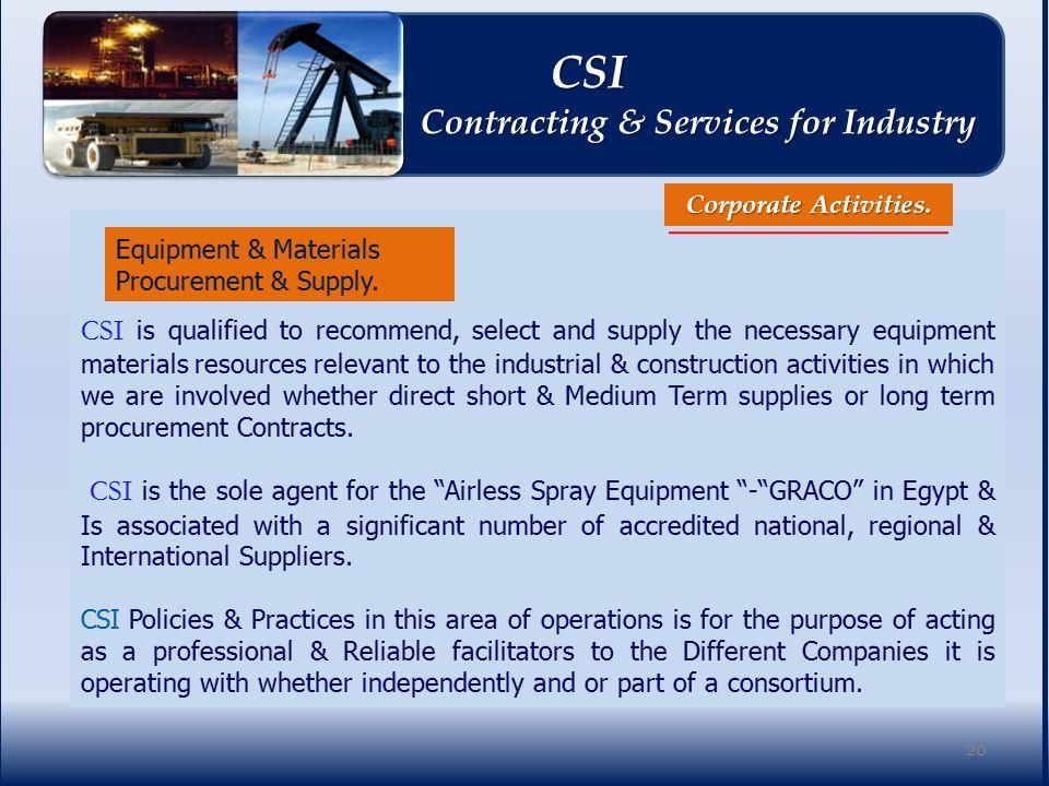 Corporate Activities.