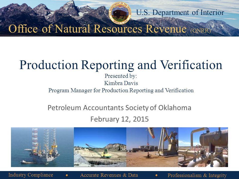 Office of Natural Resources Revenue Office of Natural Resources Revenue (ONRR) U.S.