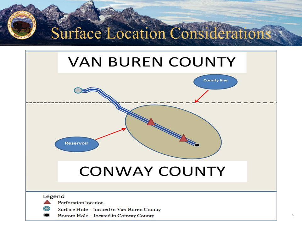 Office of Natural Resources Revenue 5 Surface Location Considerations