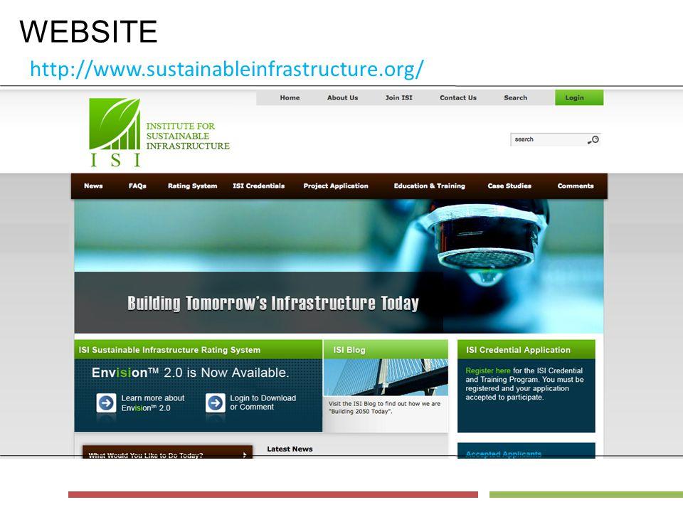 WEBSITE http://www.sustainableinfrastructure.org/
