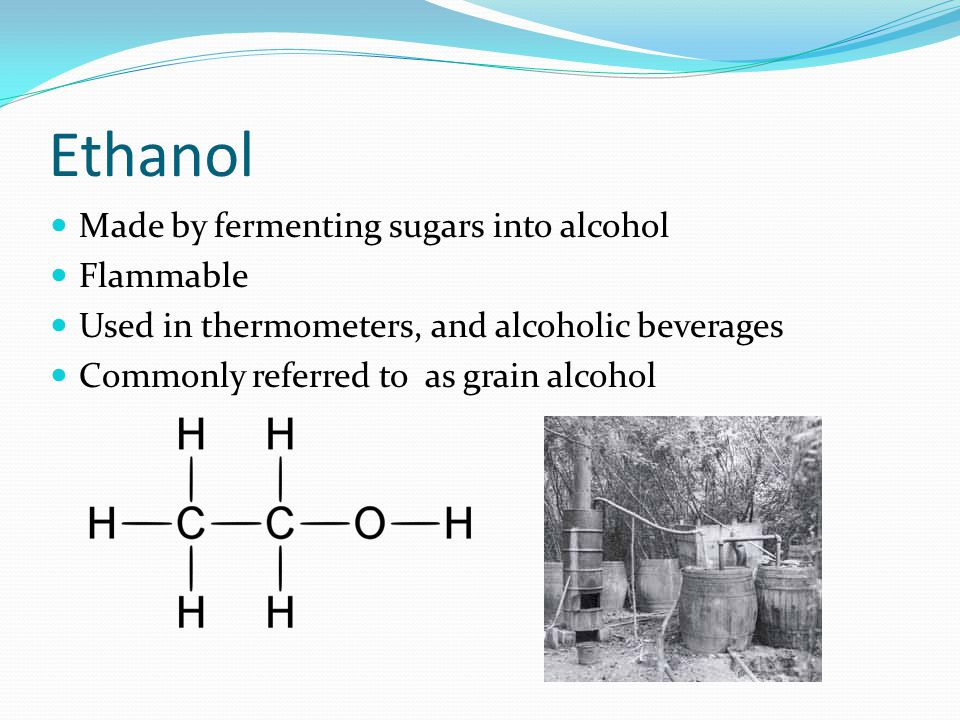 History Ethanol residues have been found on 9,000 year old clay pots in China First recorded production of alcohol from wine was in the 12 th century.