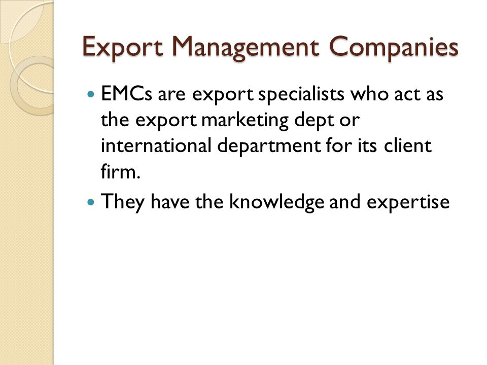Export Strategy 3M strategy 1.Enter on a small scale to reduce risk.